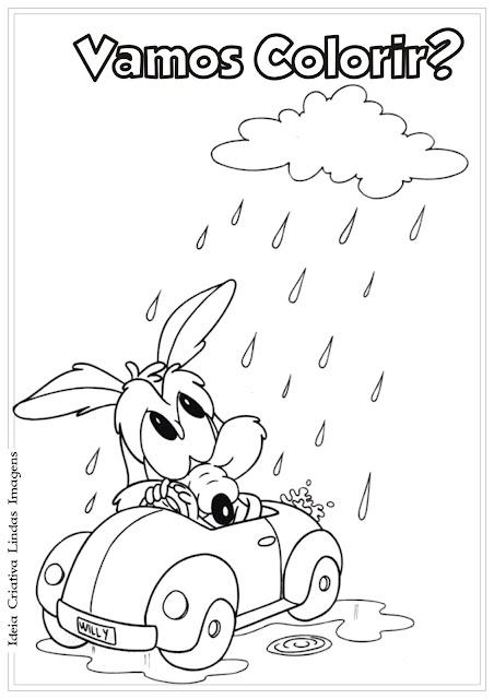 Desenho Coiote baby para colorir - Baby Looney Tunes para colorir