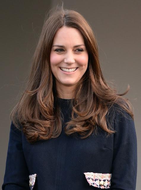 Kate Middleton wore MADDERSON LONDON Naomi Dress  EPISODE Angel Pumps