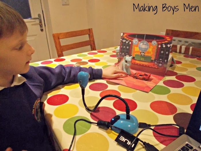 Animation for kids, encouraging creativity, planning and patience.  Plus it was lots of fun, from Making Boys Men