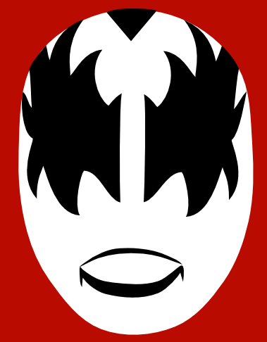 ... Band Makeup - Gene Simmons Makeup Stencil and Paul Stanley Face Paint