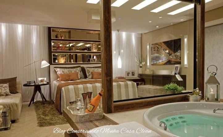 Construindo Minha Casa Clean Quartos Integrados com Banheiros de Vidros! # Banheiro Pequeno De Vidro Dentro Do Quarto