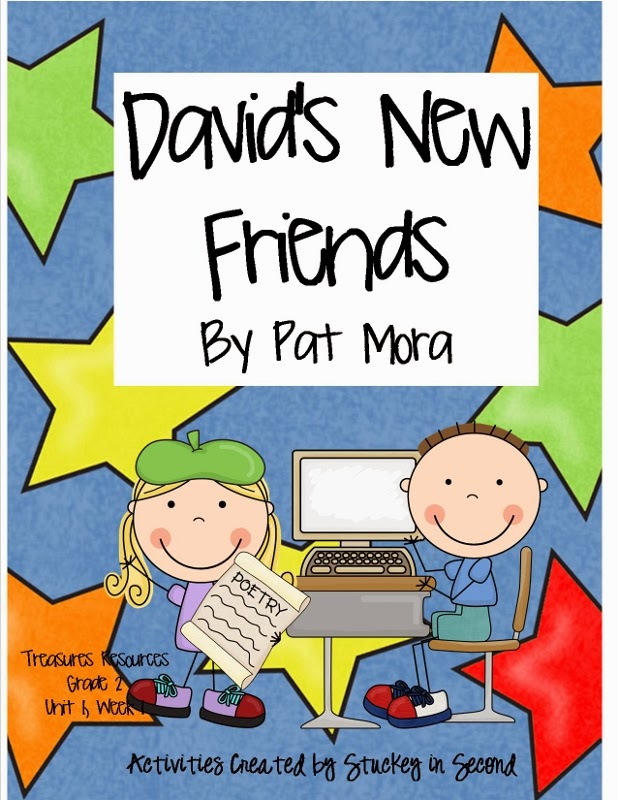 http://www.teacherspayteachers.com/Product/Treasures-Resources-Davids-New-Friends-Grade-2-Unit-1-Week-1-670767