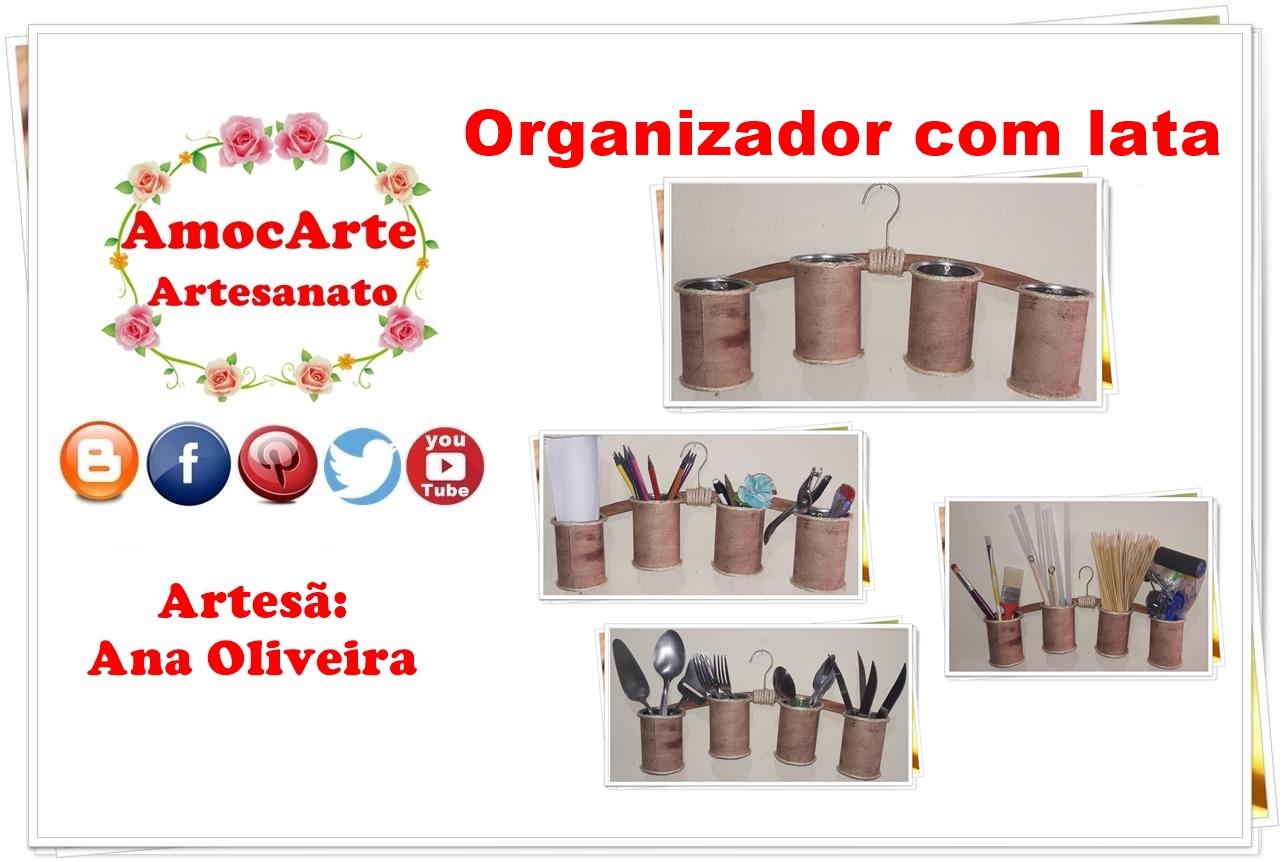Diy - Organizador com lata