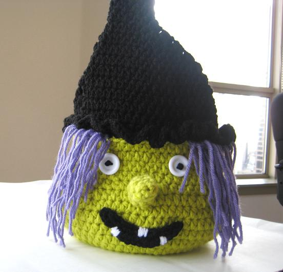 Free Crochet Patterns For Halloween : Crochet Dreamz: Boo Halloween Witch Basket ( Free PDF ...