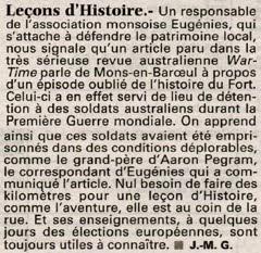 Leçon d'histoire