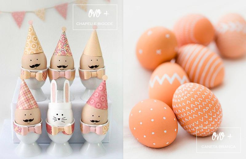 Ideia criativa para ovo de Páscoa: bigode