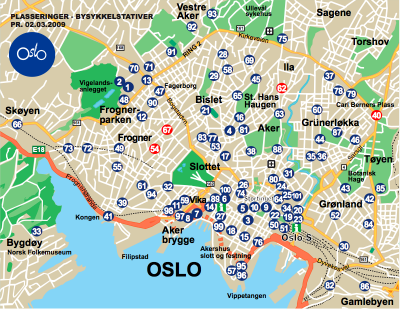 Map of cities map of oslo sciox Gallery