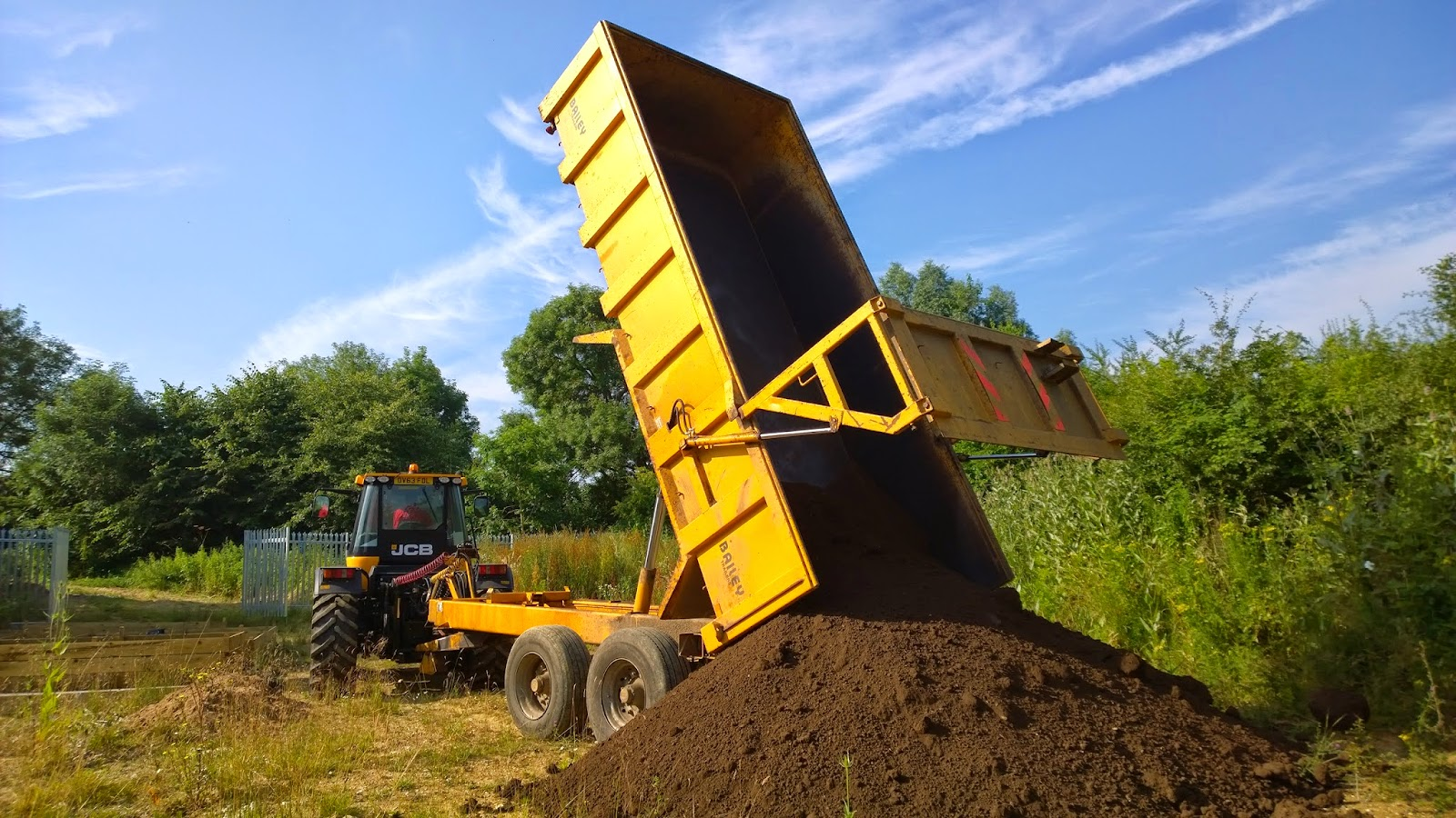 Melton community allotment project topsoil delivery for Topsoil delivery