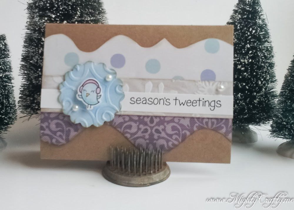 Lawn Fawn Winter Sparrows card -- www.MightyCrafty.me