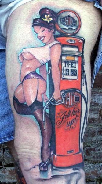Tattoo Art Body: Pin Up Girl