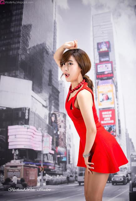 5 Hot Red - Im Min Young - very cute asian girl - girlcute4u.blogspot.com