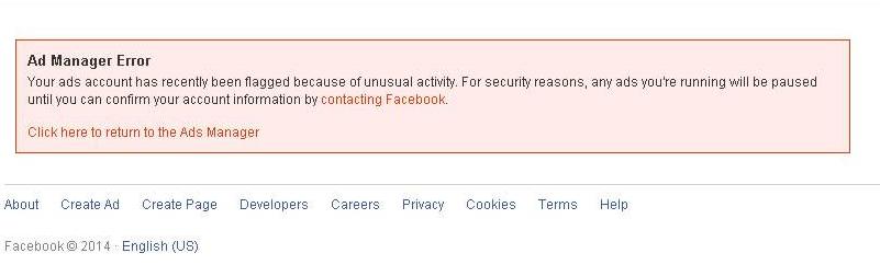 tài khoản facebook ads bị khóa