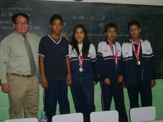 MEDALLISTAS GANADORES DE LAS OLIMPIADAS PERUANAS DE BIOLOGIA O.P.B. UNIVERSIDAD RICARDO PALMA U.R.P