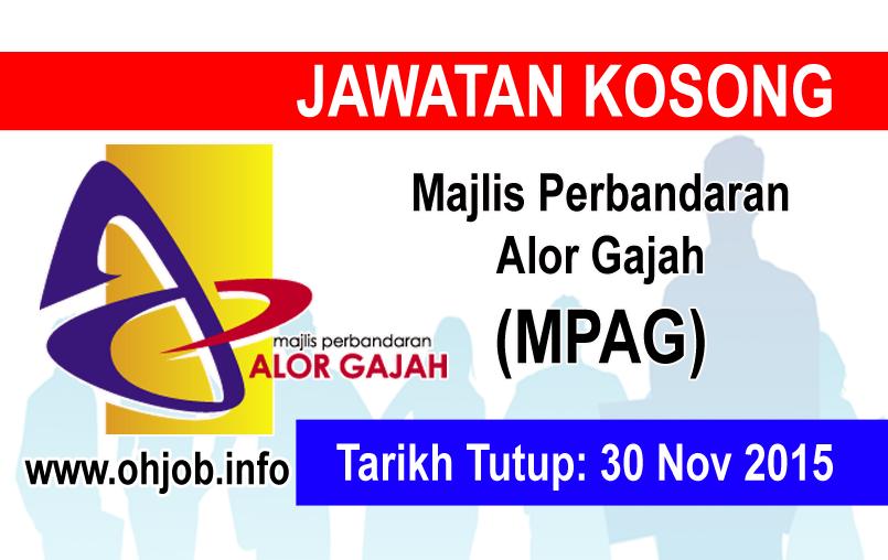 Jawatan Kerja Kosong Majlis Perbandaran Alor Gajah (MPAG) logo www.ohjob.info november 2015