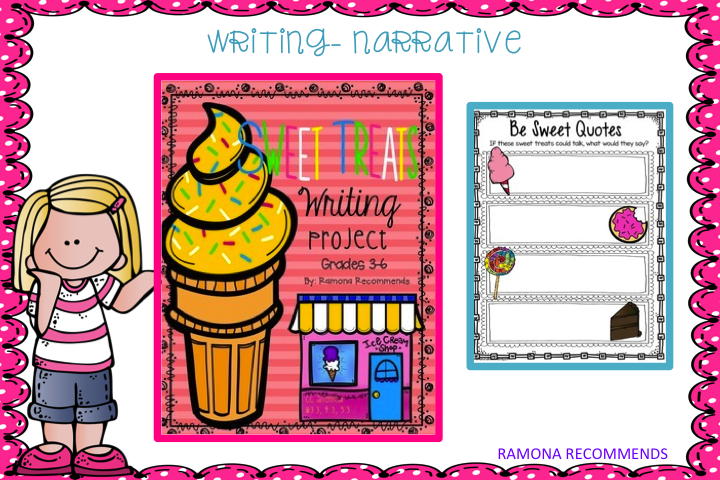 http://www.teacherspayteachers.com/Product/COMMON-CORE-ALIGNED-Sweet-Treats-Narrative-Writing-1350183