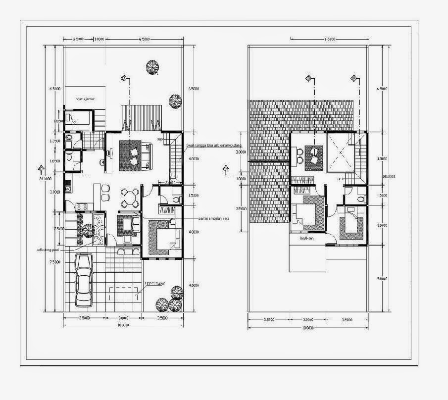 Gambar Denah Rumah Minimalis Type 45 Rumah Minimalis Idaman