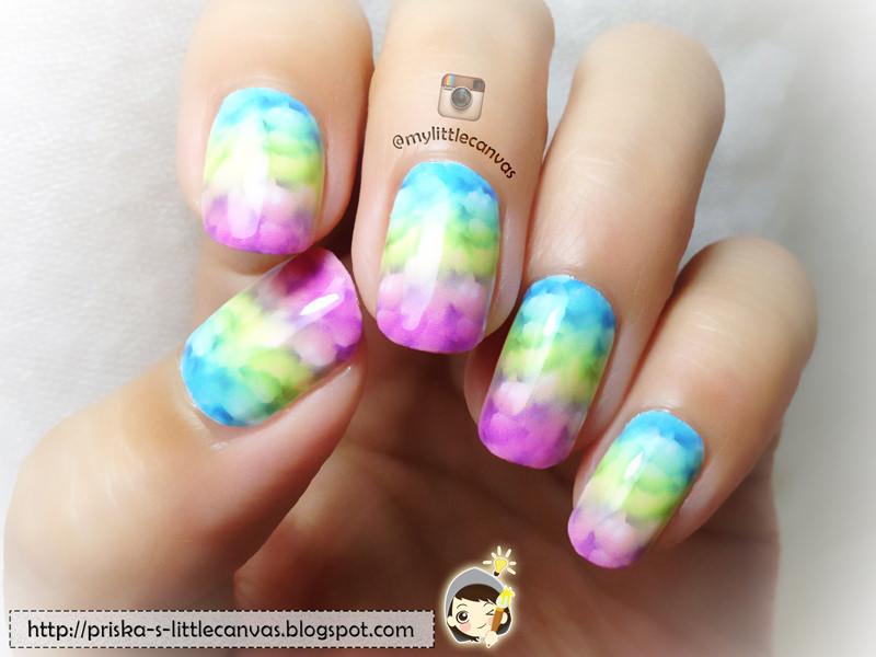 Mood Fixer Nailart : Bubbly Rainbow