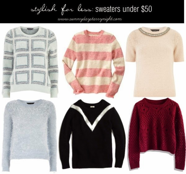 stylish for less: sweaters under $50