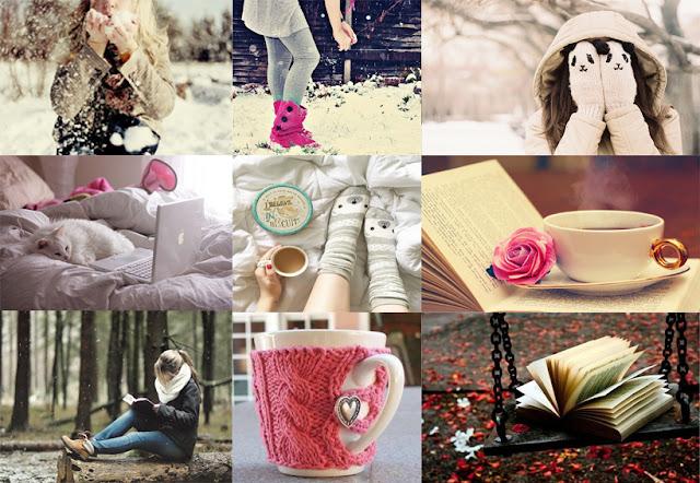 imagens de inspiração para o inverno neve e leitura