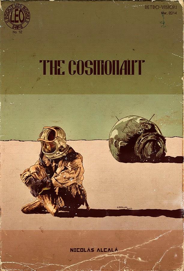 leolux, el cosmonauta, the cosmonaut, ilustracion, vintage, pulp,