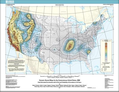 Arizona Geology Seismic Hazard Maps For Conterminous U S