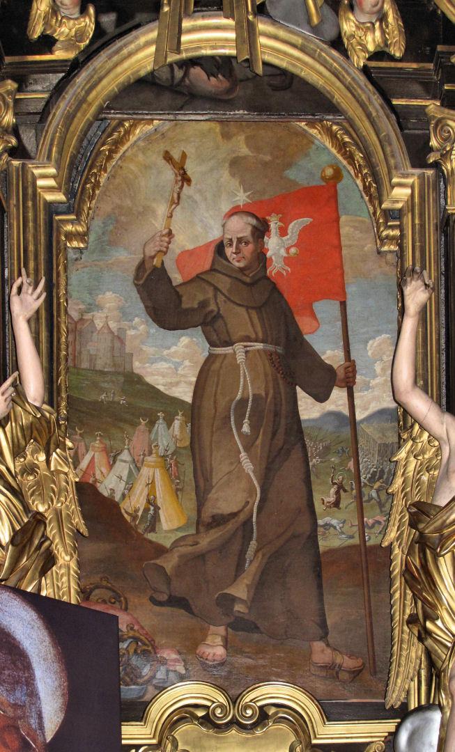 São João de Capistrano na batalha de Belgrado. Igreja dos Bernardinos, Cracóvia.