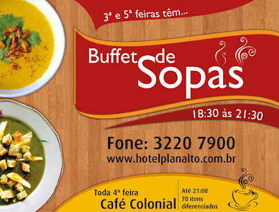 Buffet de Sopas do Hotel Planalto Ponta Grossa