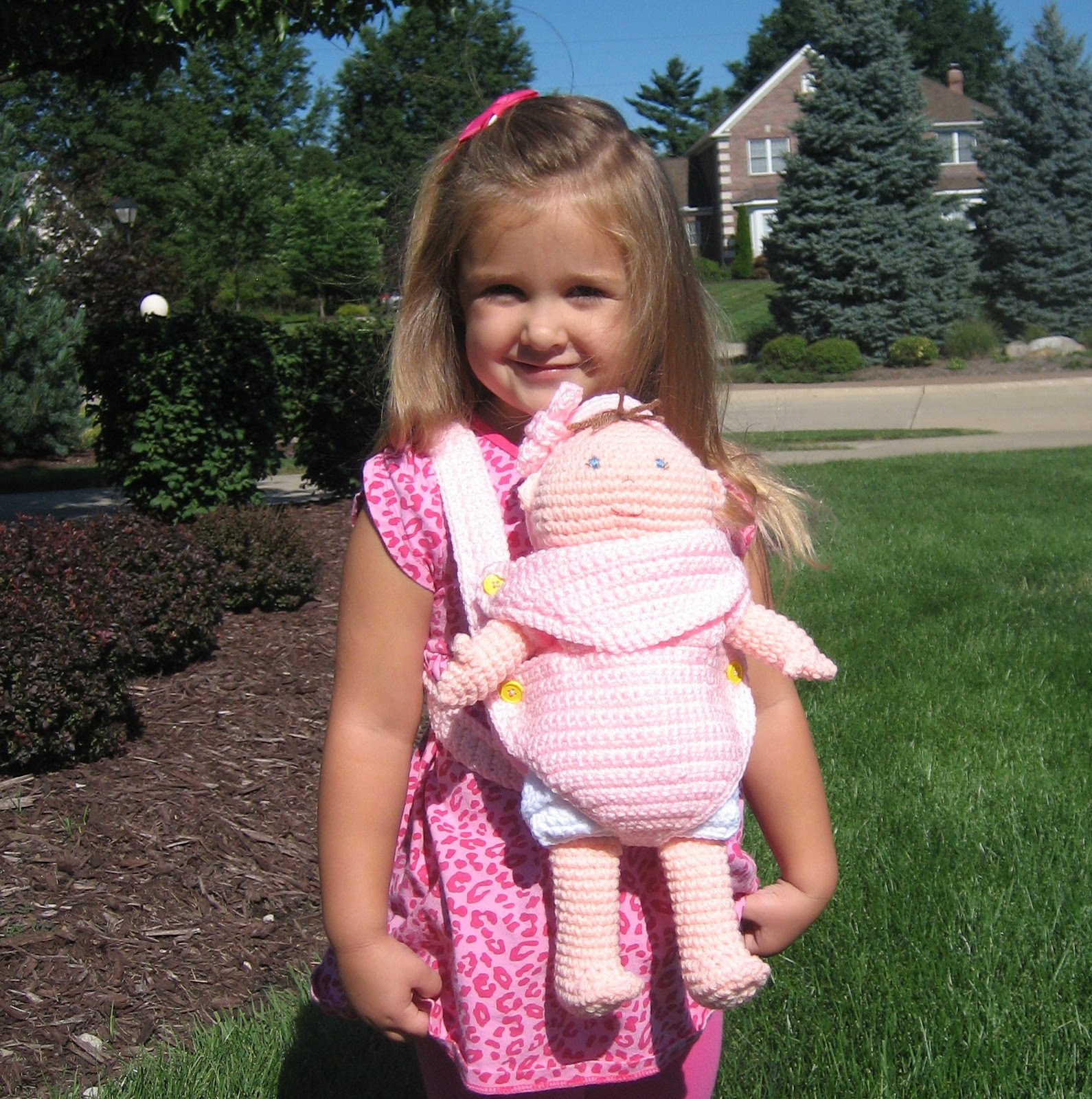 New Crochet Pattern: Baby Doll Carrier  Portable Bassinet