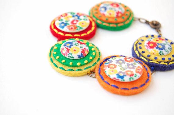 Midcentury Button Bracelet