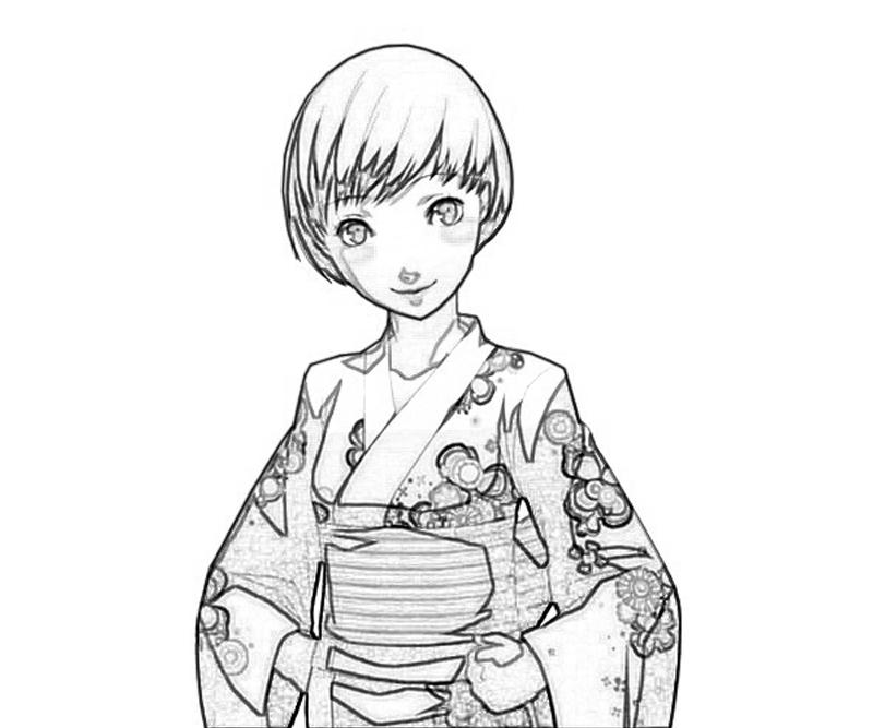 chie-satonaka-traditional-dress-coloring-pages