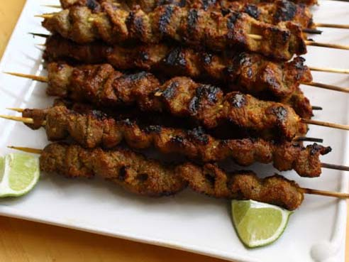 steak satay recipes dishmaps stick it ginger garlic steak satay ...