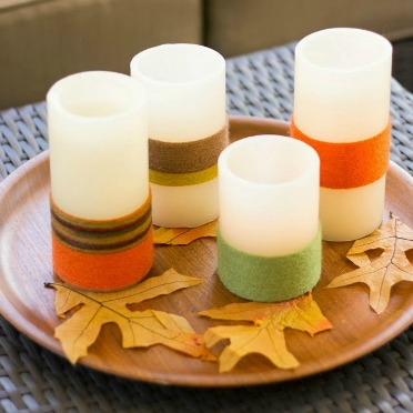 Give flameless candles a cozy makeover