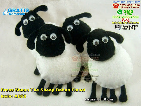 Bross Shaun The Sheep Bahan Flanel Flanel
