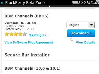BlackBerry Messenger v8.0.0.44 BETA Download