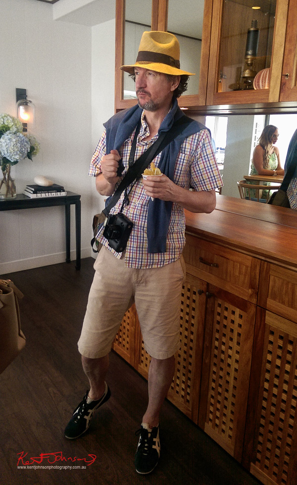 Fashion photographer and writer/blogger Kent Johnson at the Sperry Odyssey Australia launch @ Regatta Rose bay.