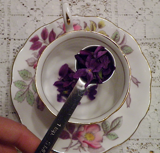 Measuring Spoon with Violets