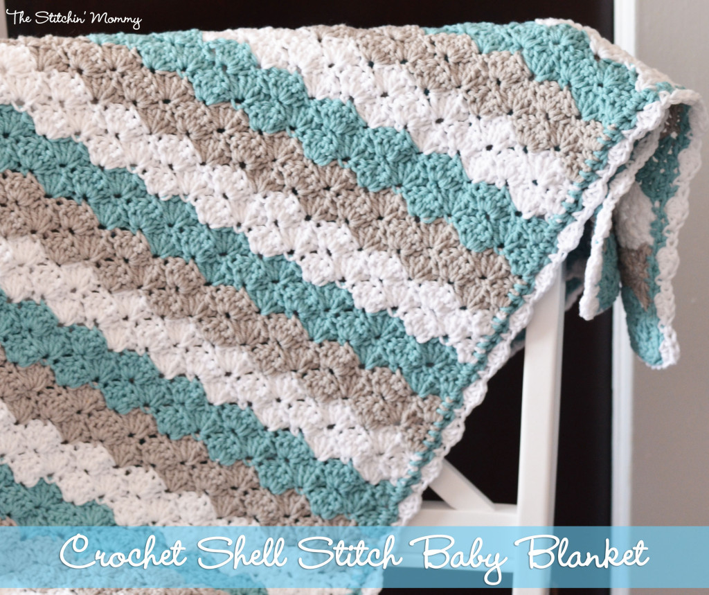Crochet Stitch X : Shell Stitch Baby Blanket from The Stitchin Mommy