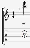 Guitar chord harmonics G