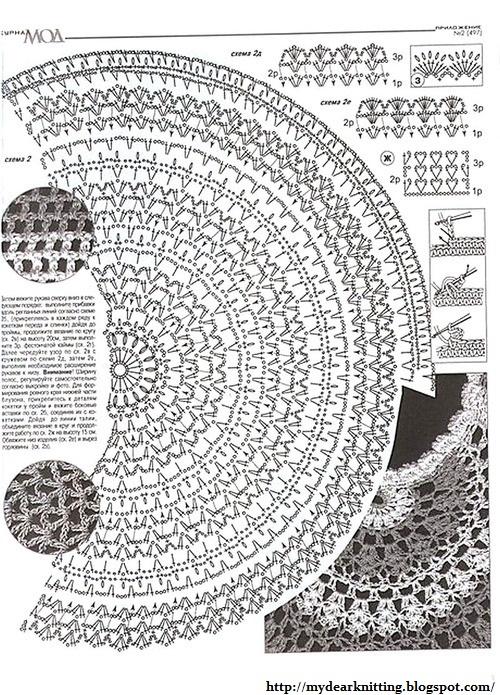 Туника крючком по кругу и схемы