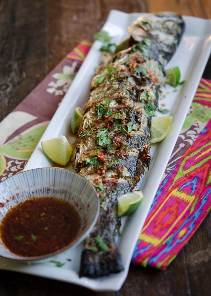 Korean recipes grilled fish with soy lime chili sauce for Korean fish sauce
