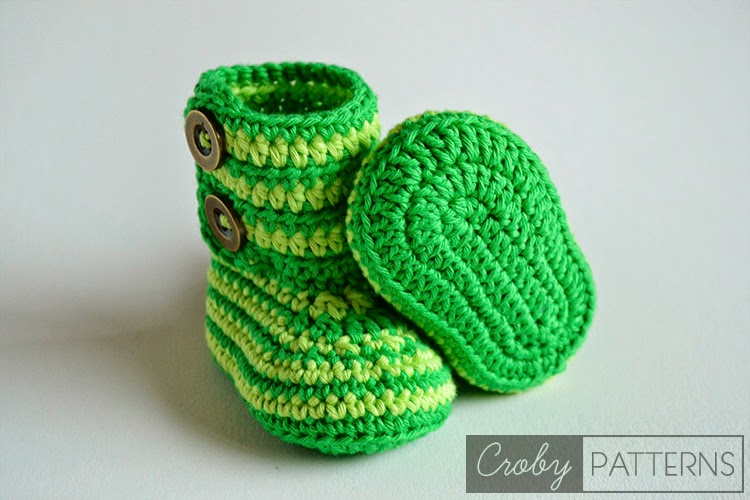 DIY Crochet Baby Booties