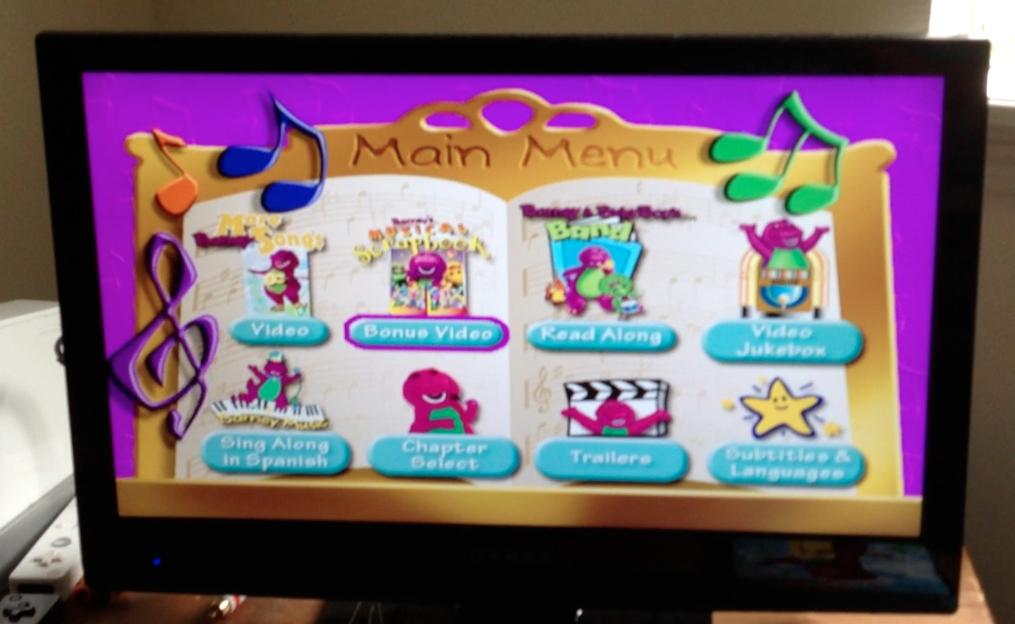 More Barney Songs Dvd Menu For More Barney Songs