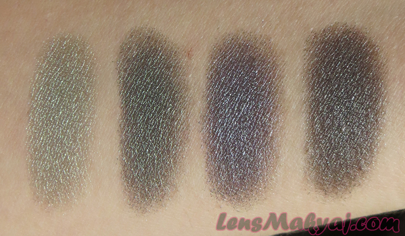 MAC Silver Sun, Legendary Lure, Fathoms Deep, Soul Serenade Swatch