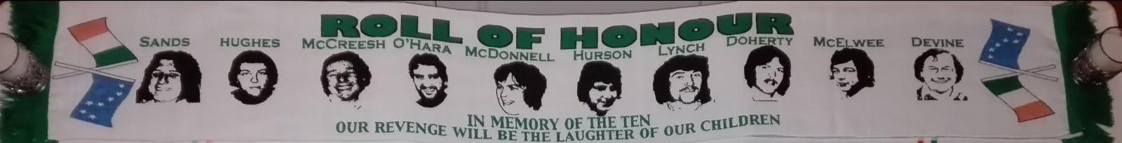 Bufanda 'Roll of Honour' - Huelga de 1981 - 14,80€