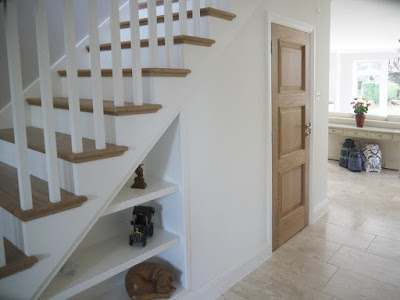 Oak door set with stairs