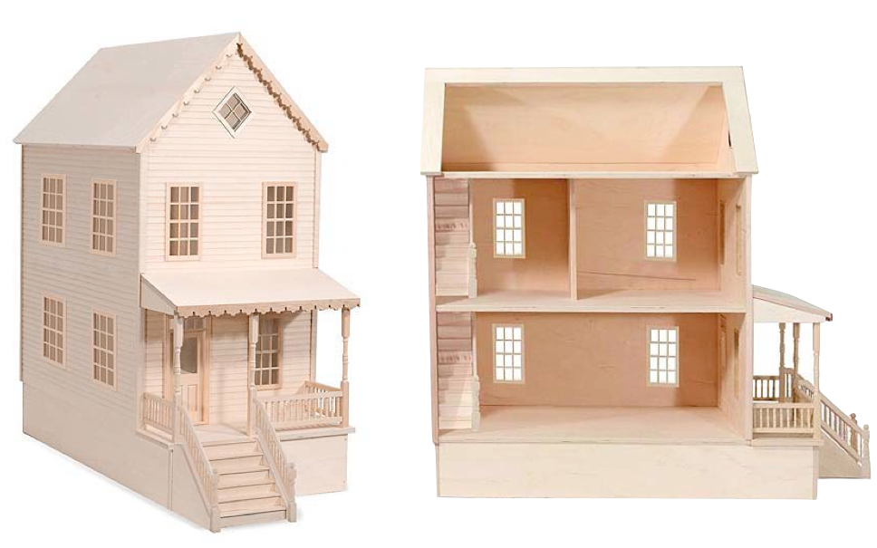 Woodwork plan wooden doll house pdf plans - Three wooden house plans ...