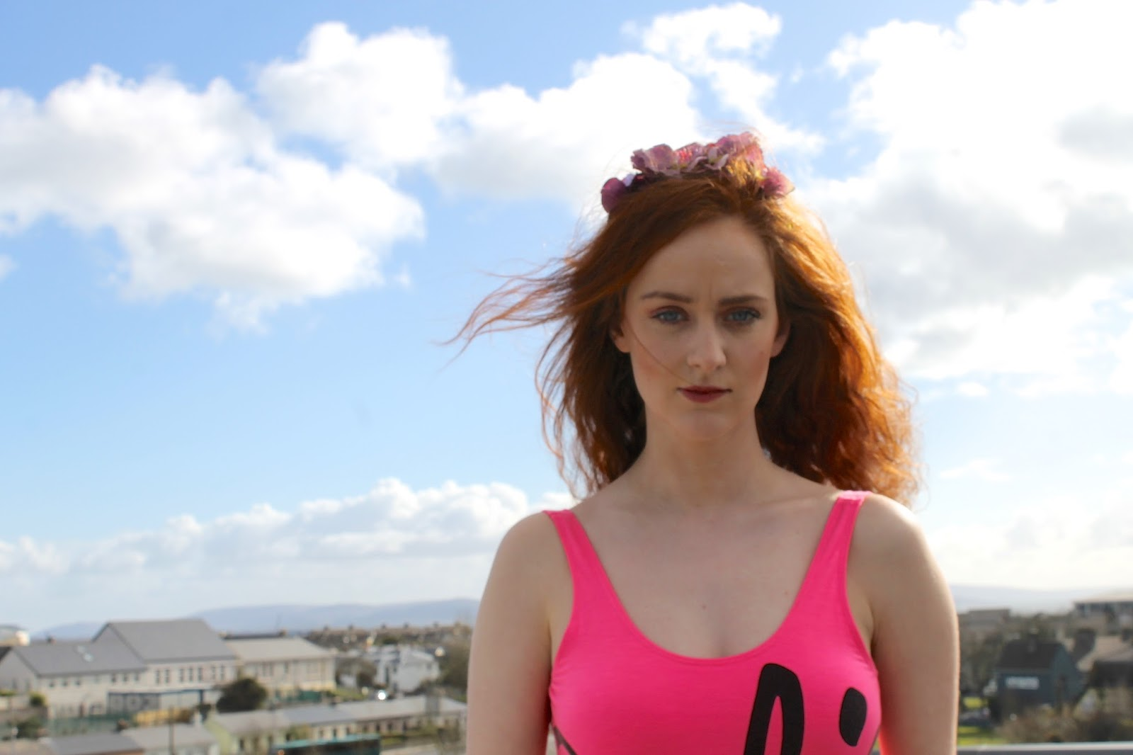 Stephanie Casserly modelling in Galway