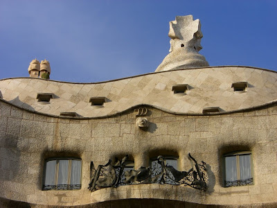 Casa Milà designed by Gaudí in Barcelona