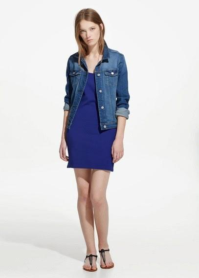 Mango 2015 Elbise Modelleri  mavi elbise, kısa elbise, yazlık rahat elbise modeli