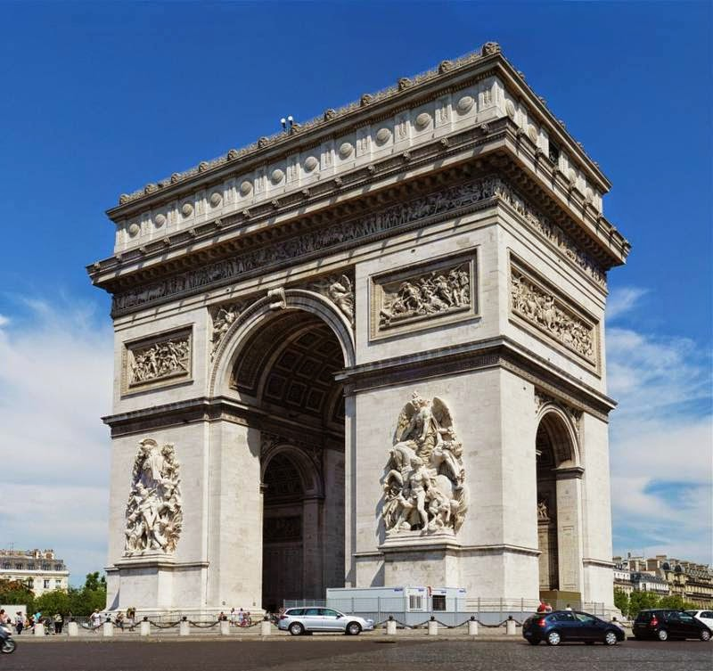 Arc de Triumph, Paris, France Famous European Places, Most Famous Places in Europe